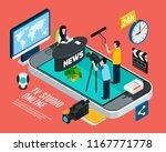photo video isometric... | Shutterstock .eps vector #1167771778