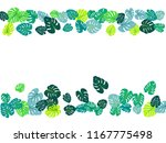 green tropical jungle leaves... | Shutterstock .eps vector #1167775498