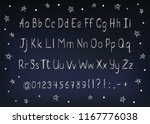 silver alphabet in sketchy... | Shutterstock .eps vector #1167776038