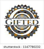 gifted arabesque emblem... | Shutterstock .eps vector #1167780232