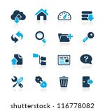 ftp   hosting icons    azure... | Shutterstock .eps vector #116778082