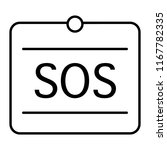 sos thin line icon. help sign... | Shutterstock .eps vector #1167782335