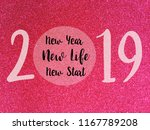 goodbye 2018 hello 2019 ... | Shutterstock . vector #1167789208