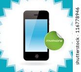 vector mobile phone  iphon ... | Shutterstock .eps vector #116778946