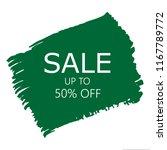 sale 50  off sign over art... | Shutterstock .eps vector #1167789772