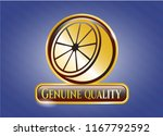 gold badge or emblem with... | Shutterstock .eps vector #1167792592