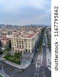 barcelona sky views  | Shutterstock . vector #1167795862