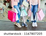 female customer with many... | Shutterstock . vector #1167807205