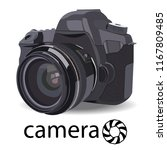 camera colro black with lens. | Shutterstock .eps vector #1167809485