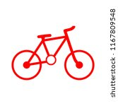 vector bicycle icon  vector... | Shutterstock .eps vector #1167809548