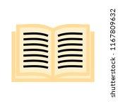 exercise book icon  vector book ... | Shutterstock .eps vector #1167809632