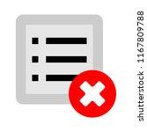 remove document icon   vector... | Shutterstock .eps vector #1167809788