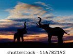 Two Elephant Silhouettes...