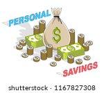 personal savings concept  money ... | Shutterstock .eps vector #1167827308