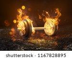 weight is burning  3d rendering  | Shutterstock . vector #1167828895