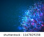 vector abstract 3d crystal. a... | Shutterstock .eps vector #1167829258
