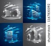 office buildings set  modern... | Shutterstock .eps vector #1167830392