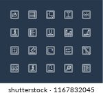 set of 20 black linear icons... | Shutterstock .eps vector #1167832045
