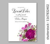 marsala burgundy rose peony...   Shutterstock .eps vector #1167832402