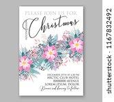 christmas party invitation... | Shutterstock .eps vector #1167832492