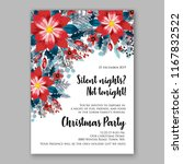 red poinsettia christmas party...   Shutterstock .eps vector #1167832522
