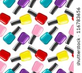 colorful nail polish vector...