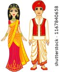asian beauty. animation indian... | Shutterstock .eps vector #1167840658