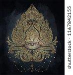 vector ornamental lotus flower  ... | Shutterstock .eps vector #1167842155