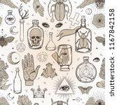 mystic  magic  background.... | Shutterstock .eps vector #1167842158
