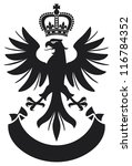 eagle crown and banner coat of... | Shutterstock . vector #116784352
