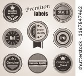 set of labels. premium quality... | Shutterstock . vector #1167847462