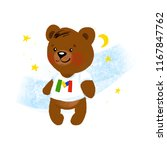 cute brown bear | Shutterstock . vector #1167847762