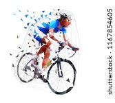 road cycling  polygonal cyclist ... | Shutterstock .eps vector #1167854605