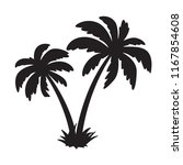 palm tree coconut vector icon... | Shutterstock .eps vector #1167854608