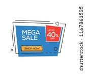 mega sale 40  banner | Shutterstock .eps vector #1167861535