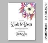 wedding invitation floral... | Shutterstock .eps vector #1167865078