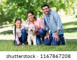 portrait of happy family... | Shutterstock . vector #1167867208