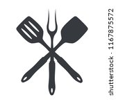 bbq or grill tools icon....   Shutterstock .eps vector #1167875572