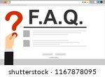 human hands holding question...   Shutterstock .eps vector #1167878095