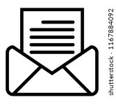 open mail line icon. letter...