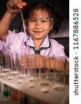 asian children in science... | Shutterstock . vector #1167886528