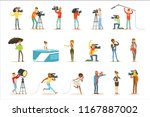 news program crew of... | Shutterstock .eps vector #1167887002