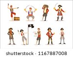 pirate sailors with classic... | Shutterstock .eps vector #1167887008