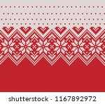 norway festive sweater fairisle ... | Shutterstock .eps vector #1167892972
