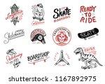 set of skateboarding labels... | Shutterstock .eps vector #1167892975