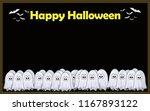halloween cute card... | Shutterstock . vector #1167893122
