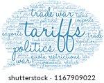 tariffs word cloud on a white...   Shutterstock .eps vector #1167909022