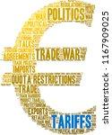 tariffs word cloud on a white...   Shutterstock .eps vector #1167909025