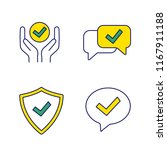 approve color icons set....   Shutterstock .eps vector #1167911188