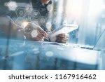 business analysis and modern...   Shutterstock . vector #1167916462